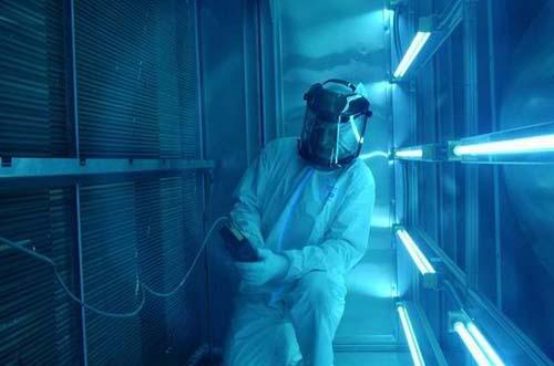 Lắp đặt đèn tia cực tím UVC trong AHU